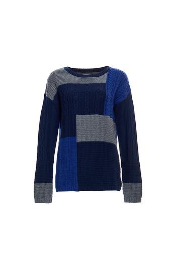 Velvet by Graham & Spencer Patchwork Sweater Slide 1