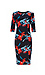 3/4 Sleeve Bodycon Midi Dress Thumb 1