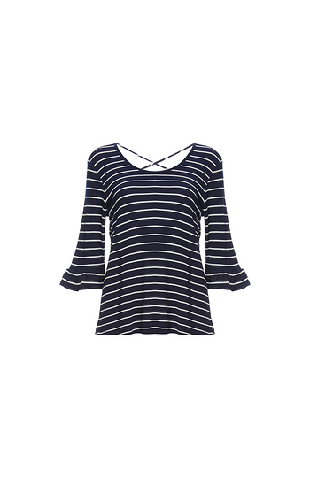 3/4 Sleeves Flare Cuffs Knit Top Slide 1