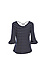 3/4 Sleeves Flare Cuffs Knit Top Thumb 2