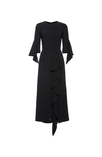GOEN.J Arch-Shaped Ruffle-Trimmed Dress Slide 1