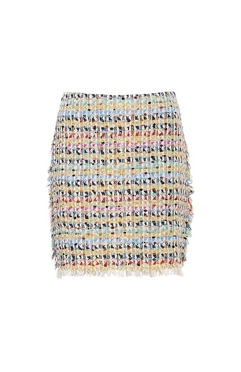 GOEN.J Frayed Tweed Mini Skirt Slide 1