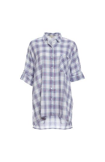 Dolman Sleeve Button Up Shirt Slide 1