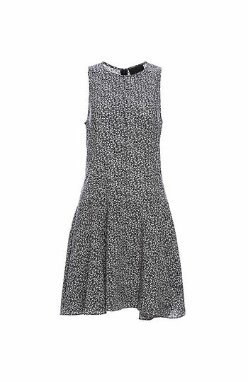 Sleeveless A-Line Printed Dress Slide 1