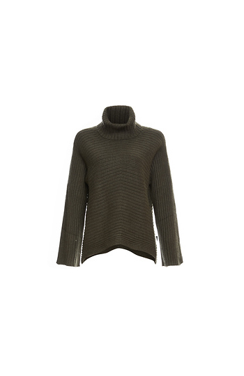 Mystree Turtleneck Ribbed Sweater Slide 1
