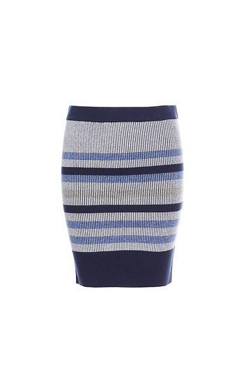 BCBGeneration Knitted Striped Skirt Slide 1