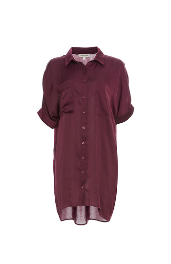 Button Up Two Pocket Tunic Slide 1