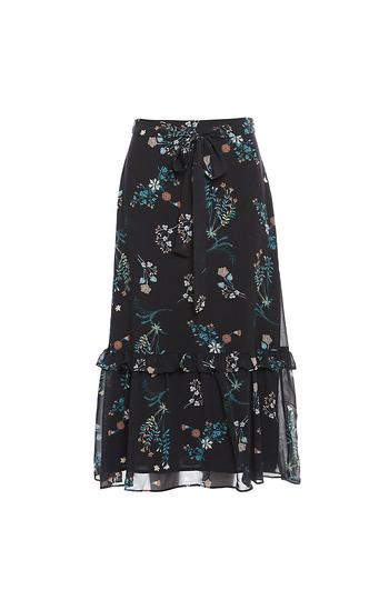 Midi Ruffled Hem Skirt Slide 1