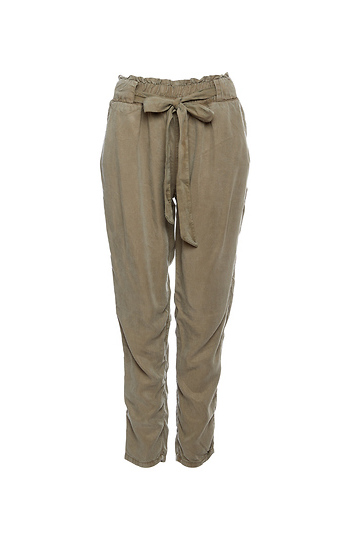 Paperbag Stretch Waist Tie Pants Slide 1