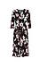 Surplice Front Three-Quarter Sleeve Dress Thumb 1