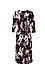 Surplice Front Three-Quarter Sleeve Dress Thumb 2