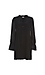 Neck Tie Long Sleeve Shift Dress Thumb 1