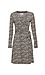 Long Sleeve Printed Wrap Dress Thumb 1