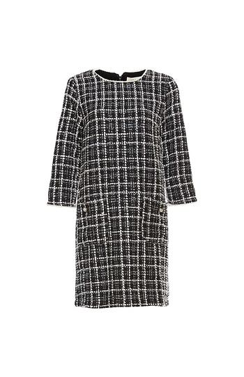 3/4 Sleeve Tweed Dress Slide 1
