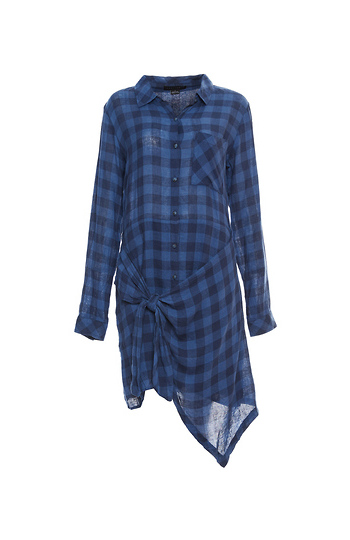Sanctuary Buffalo Plaid Shirt Dress Slide 1