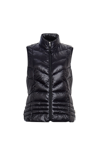 Vero Moda Quilted Zip Up Light Down Vest Slide 1