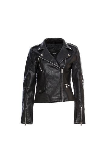 Vero Moda Faux Leather Moto Jacket Slide 1