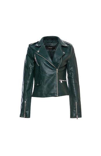 Vero Moda Faux Leather Moto Jacket Slide 1