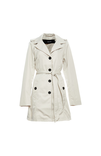 Vero Moda Button Front 3/4 Trench Coat Slide 1