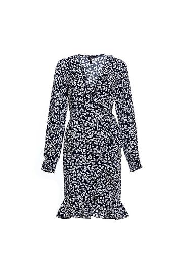 Vero Moda Long Sleeve Printed Wrap Dress Slide 1