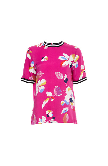 Vero Moda Short Sleeve Printed Track Top Slide 1