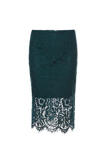 Vero Moda Lace High Waist Pencil Skirt Slide 1