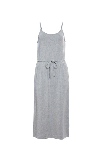 BB Dakota Sleeveless Drawstring Waist Knit Dress Slide 1