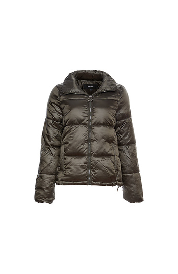 Vero Moda Turtleneck Quilted Zip Up Jacket Slide 1