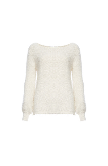 BB Dakota Fuzzy Boat Neck Sweater Slide 1