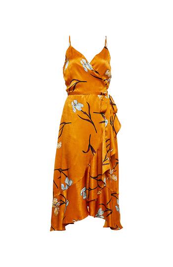 Sleeveless Wrap Ruffle Dress Slide 1