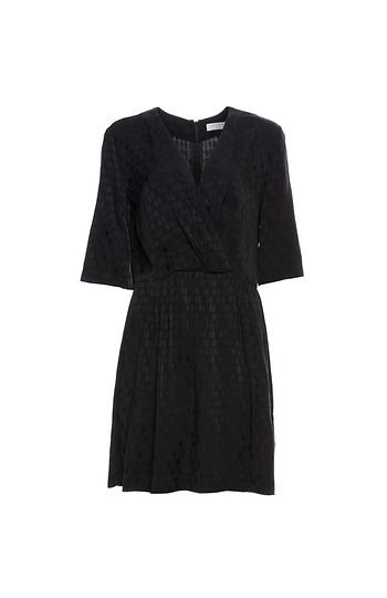 Sandro Surplice Satin Jacquard Mini Dress Slide 1