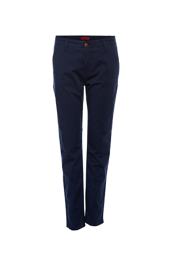1Denim Cropped Trousers with Welt Pockets Slide 1
