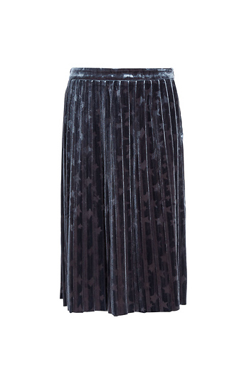 Stars Pleated Velvet Skirt Slide 1