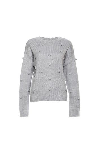 Pompom Tonal Sweater Slide 1
