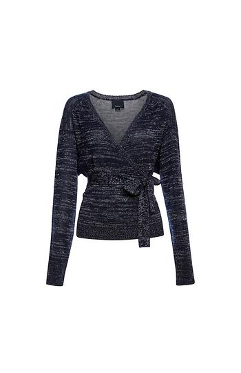 Wrap Lurex Sweater Slide 1