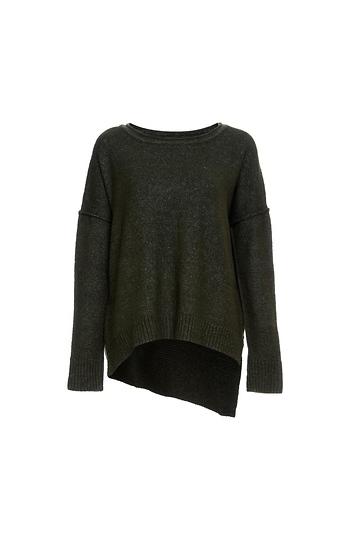 Asymmetrical Hi-Low Sweater Slide 1