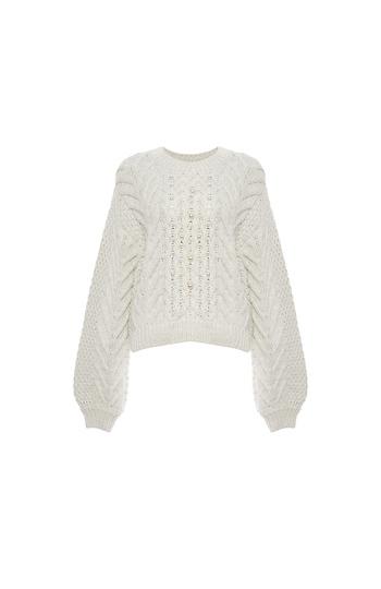 Rebecca Minkoff Blake Sweater with Pearls Slide 1