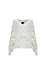 V-Neck Speckled Fuzzy Sweater Thumb 1