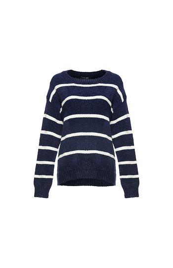 Striped Crew Neck Sweater Slide 1