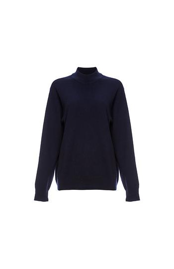 Velvet by Graham & Spencer Mock Neck Cashmere Sweater Slide 1