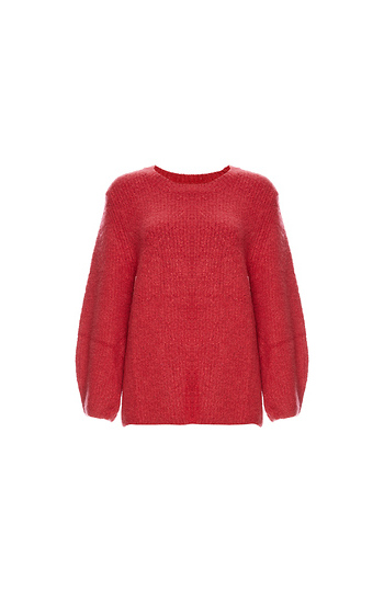 Velvet by Graham & Spencer Balloon Sleeve Boucle Sweater Slide 1