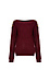 Button Shoulder Boat Neck Sweater Thumb 1