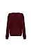 Button Shoulder Boat Neck Sweater Thumb 2