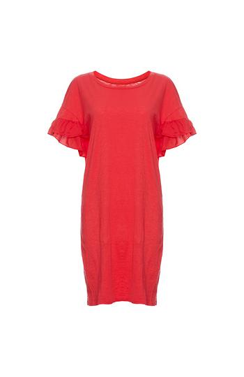 Velvet by Graham & Spencer Ruffle Sleeve Tee Dress Slide 1