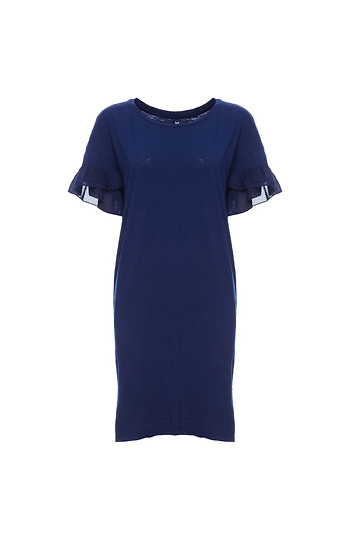 Velvet by Graham & Spencer Ruffle Sleeve Tee Dress Slide 1