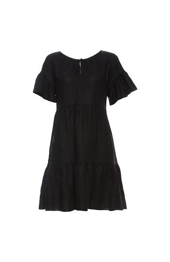 Velvet by Graham & Spencer Paneled Ruffle Linen Dress Slide 1