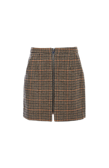 Vero Moda Zip Up Front Plaid Skirt Slide 1