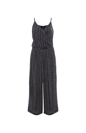 Vero Moda Surplice Sleeveless Cropped Jumpsuit Slide 1