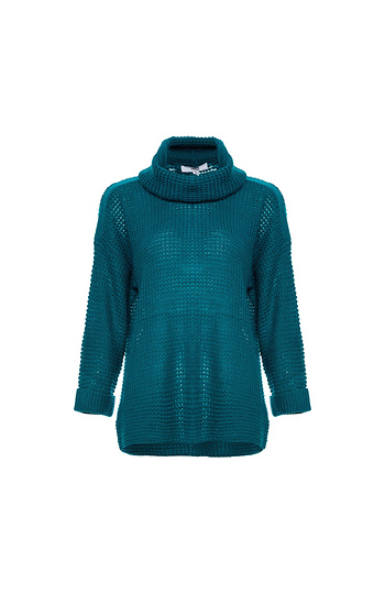 Jack by BB Dakota Waffle Knit Cowl Neck Sweater Slide 1