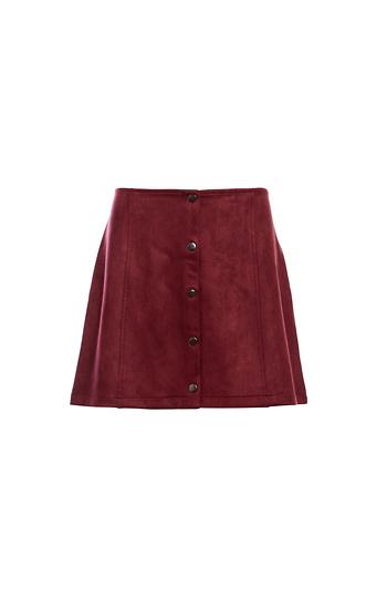 Jack by BB Dakota Snap Front Faux Suede Skirt Slide 1
